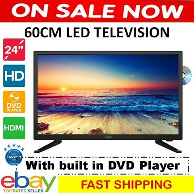 "NEW 60cm 24"" LED Television TV w/ DVD Player Portable 12V Camper Compatibility"