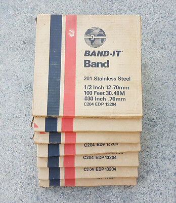 Band-it Bandit Strap Band 201 Stainless Steel C204 EDP13204 12.7mm 30.48m 0.76mm