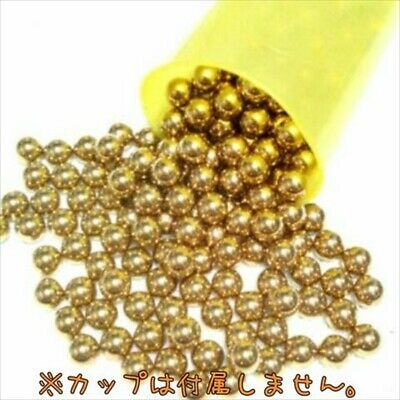 Pachinko Balls Gold / Mada in JAPAN / about 550g (  100 or more pieces )/ Japan