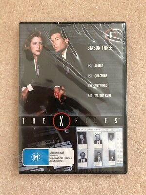 The X-Files: Season 3 (DVD, 4 X Episodes) REGION 4 SEALED