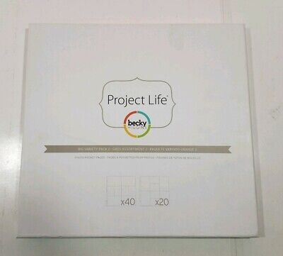 Big Variety Pack 2 - Project Life Photo Pocket Pages 60/Pkg