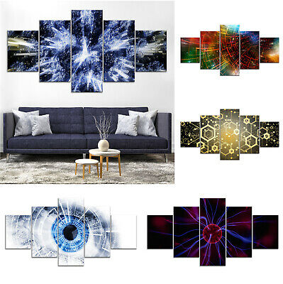 Abstract Eye Technology Canvas Print Painting Framed Home Decor Wall Art Poster