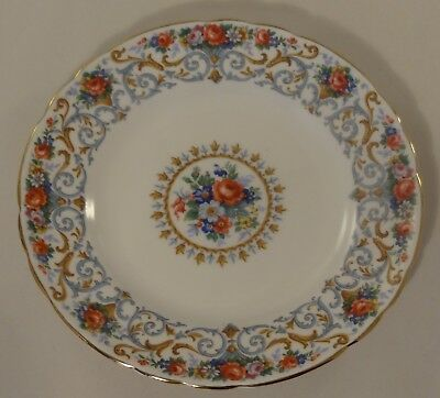 Vintage Tuscan China Orleans Floral Gilded Side Cake Sandwich  Plate 1950's