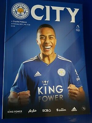 Pre-Order Leicester City V Crystal Palace 23/02/2019 Official Programme.