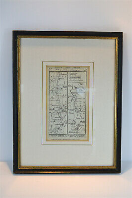Antique Direct roads map 1785 Dorking Horsham Steyning framed