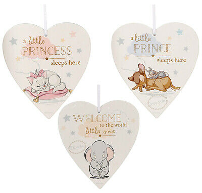 Disney Baby Heart Plaque Decoration Hanging Plaque Dumbo New Baby Gift Box