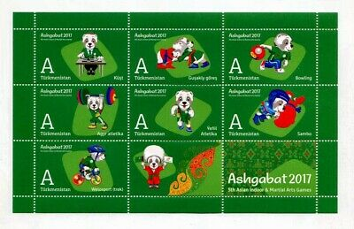 "Postage Stamps of Turkmenistan "" V Asian Indoor and Martial Arts Games "" #3"