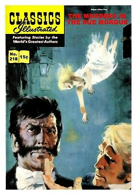 CLASSICS ILLUSTRATED EUROPEAN TRANSLATED TO ENGLISH - No.218 MURDERS RUE MORGUE
