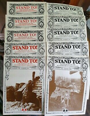 Stand To! Journal of the Western Front Association 10 Issues WW1 30 - 36 57 - 59