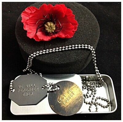 Genuine Military Australian Adf Tags Brass Id Aussie Army Dog Tags Free Text