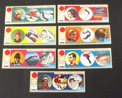 Equatorial Guinea-1972-Olympic games-Sapporo-Full set of 7-MNH