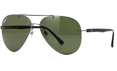 dea1f6156f Ray Ban Rb 8058 004 9A Sunglasses 59 13 140 Gunmetal Green Polarised