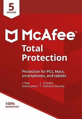 McAfee Total Protection 2019, 5 Multi-Devices, 1 Year (LATEST DOWNLOAD)