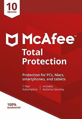 McAfee Total Protection 2019, 10 Multi-Devices, 1 Year (LATEST DOWNLOAD)