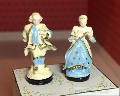 Ornamental Colonial Couple Set, Dolls House Miniatures, Accessory Decor