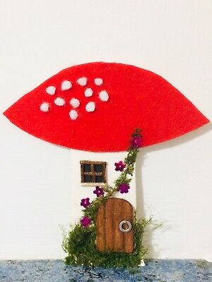 Toadstool / Mushroom Fairy House - add a touch of Fairy magic to your home