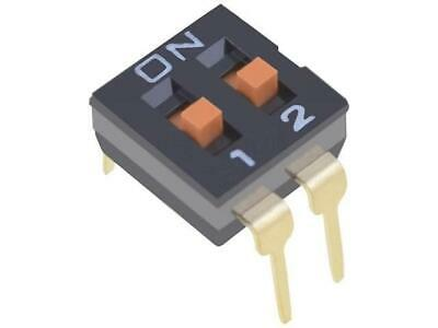 A6S-2104-H Switch DIP-SWITCH Poles number2 ON-OFF 0.025A/24VDC 100MΩ OMRON
