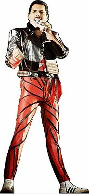 "Freddie Mercury 70"" tall Red & Black Lifesize CARDBOARD CUTOUT Standee Standup"