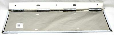 """License plate single holder stainless steel piano hinge 18 1/4"""" wide 7 1/4"""" tall"""
