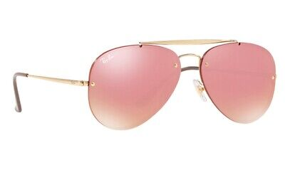 e735457867d9c Ray Ban Rb 3584 N Aviator Blaze Sunglasses 9052 e4 58 13 145 Gold Pink