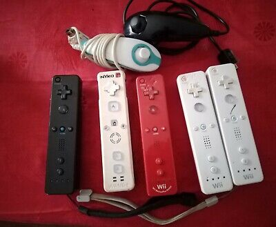 Lot 5 Manettes Wii Wii U Et 2 Nunchuk A Tester