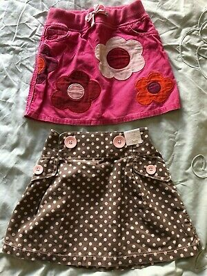 Girls skirt bundle 4-5 Mini Boden, Next BNWT, pink, brown