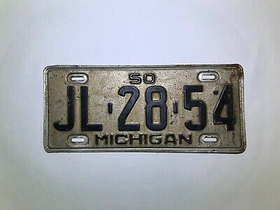 1950 Michigan License Plate JL-28-54 - Good Condition