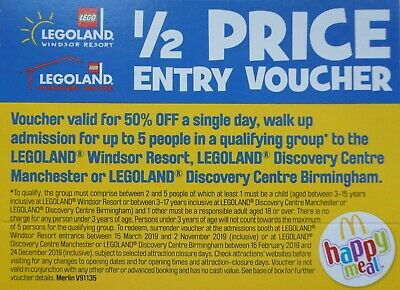 Legoland 1/2 Half Price Entry Voucher for up to 5 People
