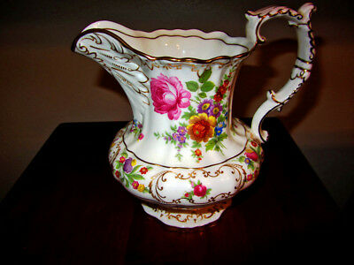 Dresden Sprays Bone China Hammersley Water or Juice Pitcher -Made in England