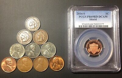 Old US Coin Lot: Shield Penny PCGS Starter W/ Indian PDS Steel Etc Bonus Silver!
