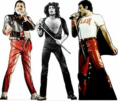 "3 different Freddie Mercury 70"" tall Lifesize CARDBOARD CUTOUT Standee Standup"