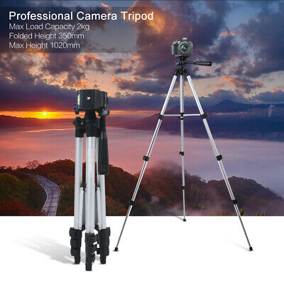 Pro Camera Tripod Lightweight Flexible Portable 3-way Head for Canon Nikon Z2X6