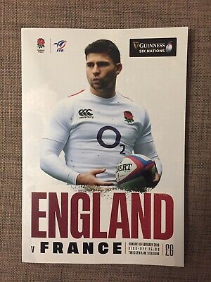 New Guinness Six Nations 2019 England Vs France Matchday Programme