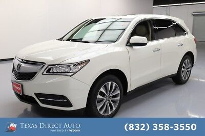 2016 Acura MDX 4dr SUV w/Technology Package Texas Direct Auto 2016 4dr SUV w/Technology Package Used 3.5L V6 24V Automatic