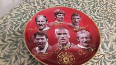 6a40f7ecc Manchester United 100 Glorious Years- Plate 1902-2002 By Rob Perry Danbury  Mint