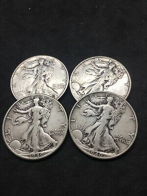 A 1940 Walking Liberty Half Dollar 90% SILVER US Mint G - VG