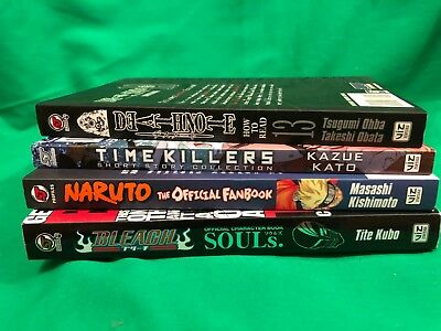 Anime Fanbooks - Naruto, Bleach, Blue Exorcist & Death Note (Paperback)