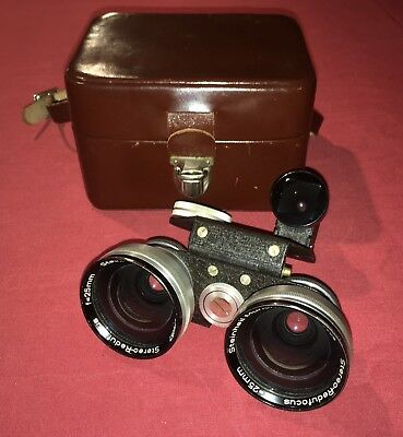 Steinheil Munchen Wide Angle Lens ST513 for 3D 3.5 or 2.8 Stereo Realist Camera