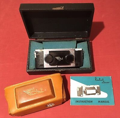 f2.8 Stereo Realist Custom 3D Camera, With Leather Case and Instructions