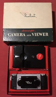 Boxed Stereo Realist f3.5 Camera & Realist Red Button Viewer.