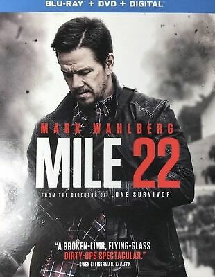 Mile 22(Blu-Ray+Dvd+Digital Hd)W/slipcover New   Free Shipping!!