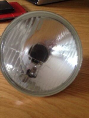 """Autopal Glass H4 5 3/4"""" headlamp unit with Side light, 5 3/4 Inch Not 7 Inch"""