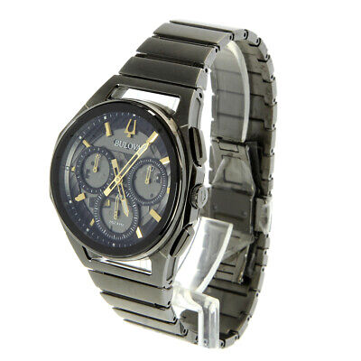 6af28f977 NEW BULOVA MEN'S Curv 98A206 Chronograph 44mm Stainless Steel Watch ...