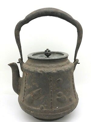 Early Chinese Teapot With Sea Shells Design & Marks