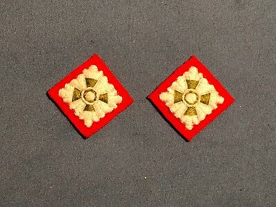 WWII British Army Officer Infantry CLOTH RANK PIPS Lieutenant (red)