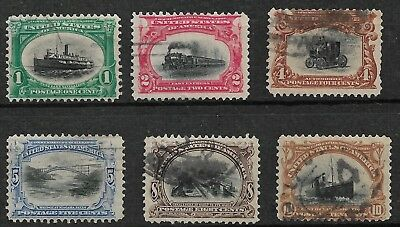 U.S. #294-299 Pan American Exposition Issue