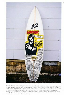 D25 7x10 Color Art Photo Page #76 Misfits Surfboard Horror Business Hand Drawn