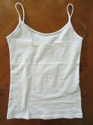 cc4bfcc505 WOMENS FOREVER 21 BASIC TANK TOP KNIT TOP Size SMALL S WHITE STRETCH New  CAMI