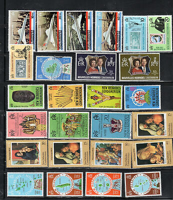 New Hebrides Stamps  Mint Never Hinged Mh & Used Full Sets    Lot 38911