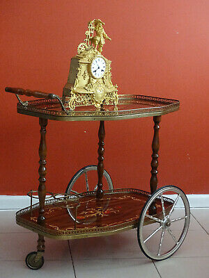 Antique  Vintage Tea Cart Table  Bar Drink Trolley, Italy  mid 1900's